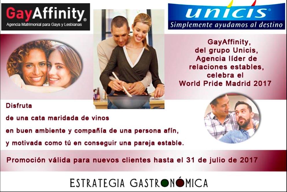 GayAffinity te regala catas maridadas